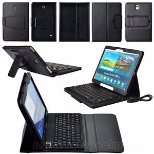 Leather Bluetooth Keyboard Cover for Samsung Tab & Tab 2 10.1""