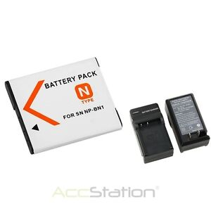 NP-BN1 N Type Battery +Charger For Sony Cybershot NPBN1