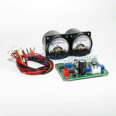2pcs Vu Panel Meter 500ua Warm Back Light Recording Cable Wdriver Module New