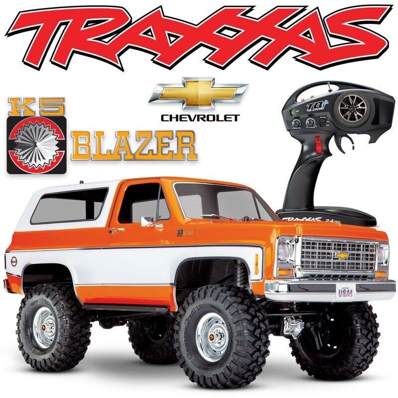 Details about Traxxas TRX-4 Chevy K5 Blazer ORANGE 4WD RTR RC Rock Crawler  Scale Trail Truck