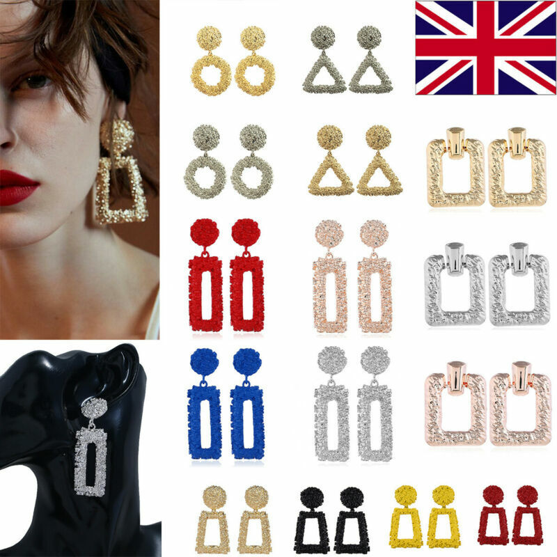 Jewellery - UK Fashion Women Earrings Square Dangle Ear Studs Geometry Drop Earring Jewelry