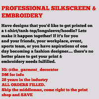 **Need some printed uniforms for your workplace/organization??**