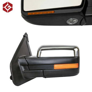 NEW OEM Style Chrome Side Mirrors for 2007-14 Ford F150
