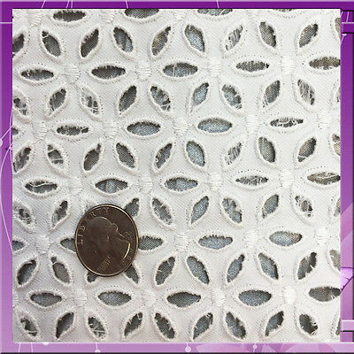 100% COTTON EYELET 53 INCHES WIDE FABRIC SOLD BY THE YARD IVORY