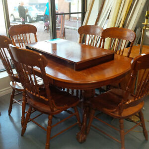 Durable and stylish wooden dining set $250