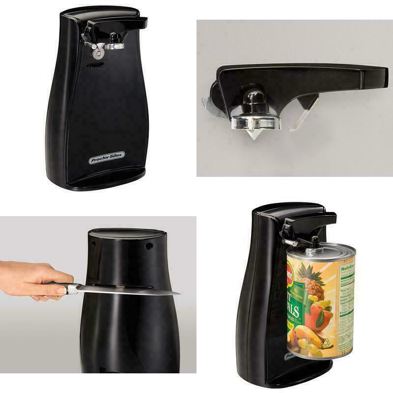 Extra Tall Electric Can Opener Durable Power Knife Sharpener