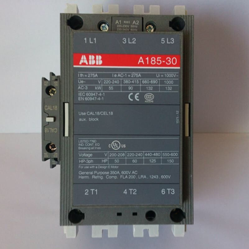 ABB  A185-30-11-84 Contactor Motor Starter 120VAC COIL Size 4 Size 5