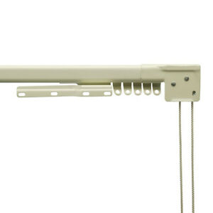 silk curtain panels - traverse rods - cord tension pulleys