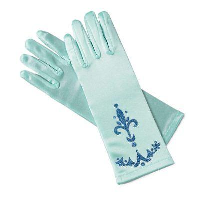 Elsa Eiskönigin Handschuhe Kostüm Verkleidung Karneval Kindergeburtstag Glitzer (Verkleidung Elsa Kostüm)