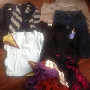 LOT: NEW & gently worn brand name clothes, medium