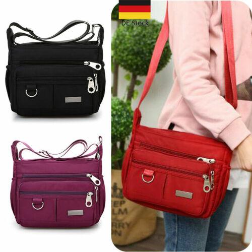 Damen Tasche Nylon Umhängetasche Schultertasche Crossover Bag Damenhandtasche DE
