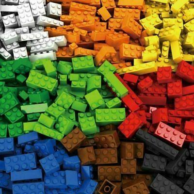 BULK LEGO LOT 100 200 Pieces - Color Choice - Bonus Minifig Accessories