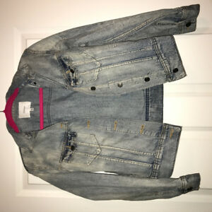 Aritzia Oversize Biker Style Jean Jacket
