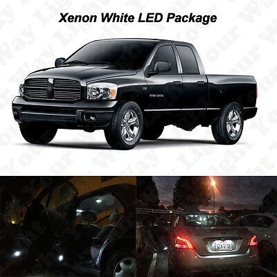 8 x Xenon White LED Interior Bulb + License Plate Lights For 2002-2008 Dodge Ram
