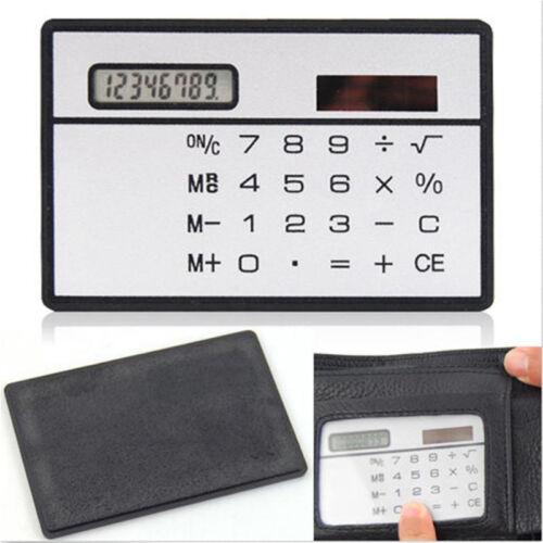Good Quality 8DigitsUltraMiniCreditCardSizeSolarPowerPocketCalculator