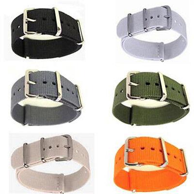 Großhandel Armbänder (Großhandel Männer Nylon Sport Armbanduhr Strap Infantry Military Army 18 / 20mm)