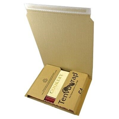 10 x BRAND NEW LARGE C4 BOOK WRAP MAILER POSTAL BOXES 312x250x74mm - A4 SIZE