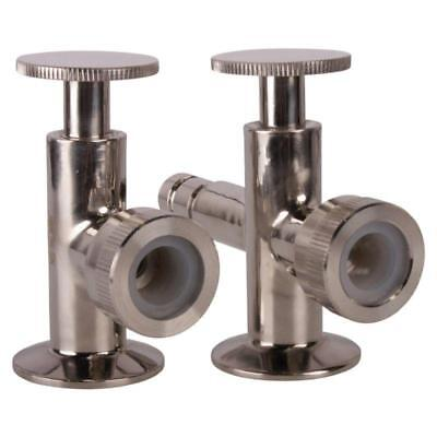Sight Level Tri Clamp 1.5 1 12 Inch Valves Pair - Sanitary 3 Pack