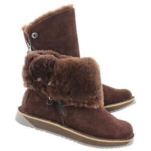 NORWAY chocolate suede zipper boots(NEW)