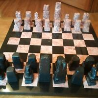 CHESS SET - MARBLE / ONYX