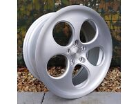 """18"""" Bola B5 Silver Brushed Face for VW Audi Seat Etc"""