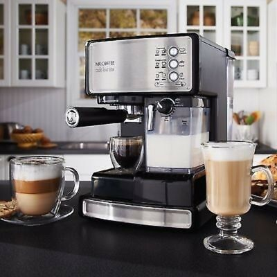 Mr.Coffee Café Barista Espresso Cappuccino Maker Instinctual Milk Frother Machine