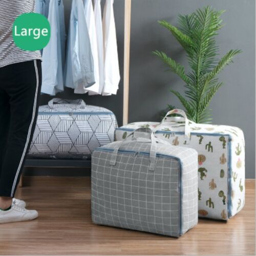 Large Storage Bag Clothes Quilt Bedding Zipped Laundry Pillows Organizer Bag US Home & Garden