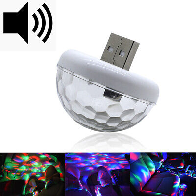 - Sound Control Colorful Flexible Mini Car USB LED Lights Car Atmosphere Light New