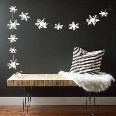 12x 3M White 3D Snowflake Christmas Ornaments Xmas Tree Hanging Decoration 2017 Christmas & Winter Holiday & Seasonal Décor