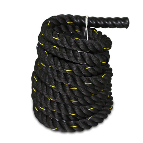 Durable 40 FT x 1.5″ Crossfit Exercise Workout Battle Rope  Strength Train Fitness, Running & Yoga