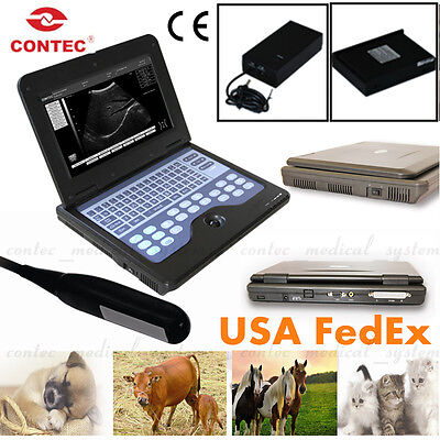 Contec Veterinary Ultrasound Scanner Portable Laptop Machine7.5mhz Rectal Probe