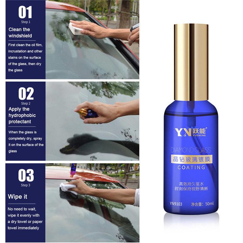 50ml Anti-scratch Car Hydrophobic Glass Coating Liquid Ceramic Coat Auto Care