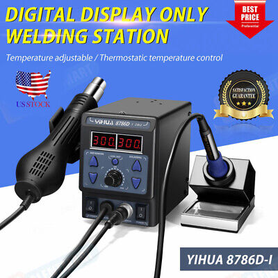 Hot Yihua 700w 110v 8786d-i 2 In 1 Soldering Rework Station Iron Esd Welder Us