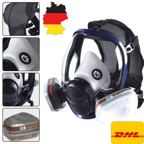 15 IN 1 Gasmaske Staubdicht Maske Atemschutzmaske Vollmaske Gasmaske Atemmaske