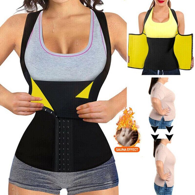 Damen Neopren Taillen Mieder Bauchweggürtel Shapewear Abnehmen Weste Korsett Gym