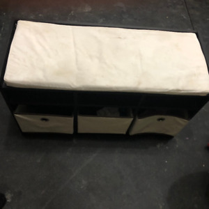 Padded Storage Bench with 3 Baskets