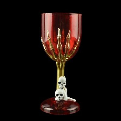 Halloween Witch craft Wine Goblet glass cup gothic altar skulls pagan witchcraft](Glasses Cup)