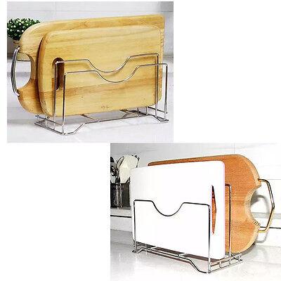 New Stainless Cutting Board 3 Holder Stand Kitchen Board Rack Organizer Storage