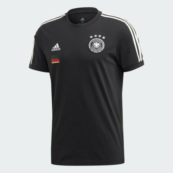 Adidas Germany Mens 3 Stripe T-Shirt (Black) (Size M) (Brand New With Tags)