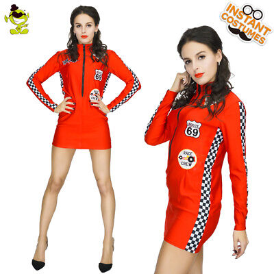Women Racing Costume Car Driver Nascar Racer F1 For Halloween - Nascar Racer Halloween Costumes