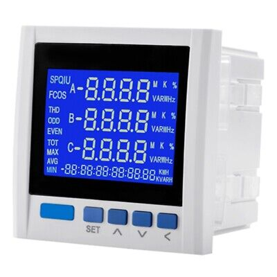 Yg889e-9sy Three-phase Multifunction Lcd Digital Volt Amp Power Meter Ener A7g7