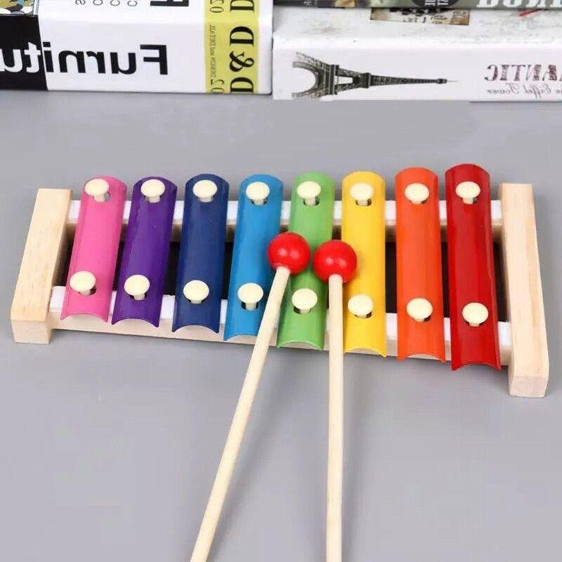 Tickit Kinder Holz Schlagzeug 10er Set Musik Instrumente Band Spielsachen Neu