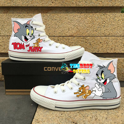 CONVERSE Chuck Taylor All Star TOM AND JERRY cartoon hand painted shoes ](Cartoon Converse Shoes)
