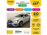 MERCEDES-BENZ A180 CDI SPORT AMG LINE A200 A220 1.8 2.1 SE FROM £67 PER WEEK!