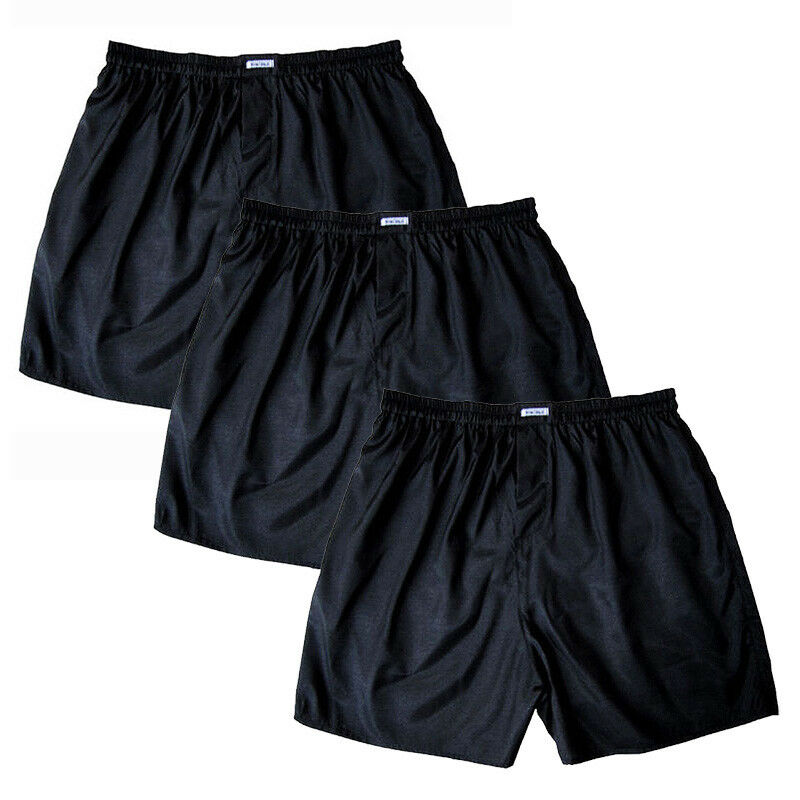 "31/"" UK Small 28/"" Black Mens Thai Silk Boxer shorts FREE POST Underwear"