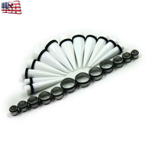 24 Pieces Taper Plugs kit 00G-20mm Huge Ear Gauges Stretching Tunnels Kit