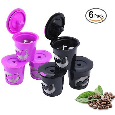 Ohuhu 6 Pack Refillable Reusable K-Cup Coffee Filter Pod ,Fits Keurig 2.0 Coffee