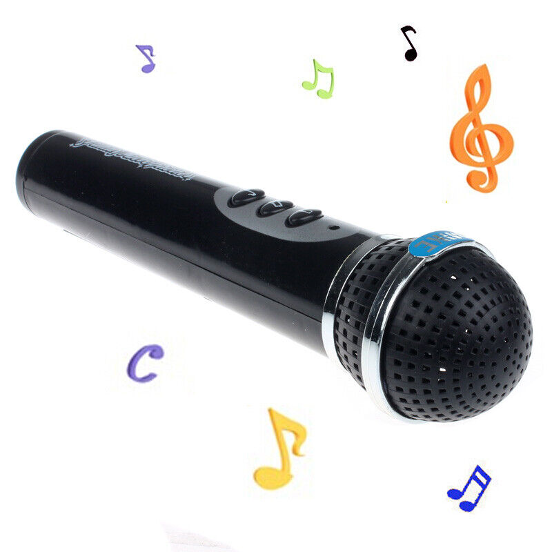 Girls Boy Black Microphone Mic Karaoke Singing Kid Funny Mus