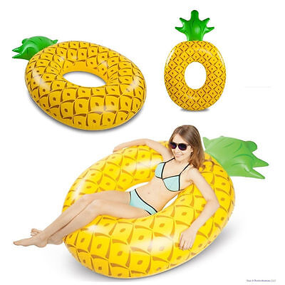 Giant Pineapple Inflatable Raft Float Lounger 6ft Summer Swimming Water Pool Fun