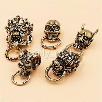 Punk Brass screwback Devil Conchos Bag Wallet Chain Ring Connector Monster (Brass Conchos)